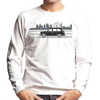London Taxi Company TX4 kör längs staden Men's Sweatshirt