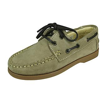 Angela Brown Max Toddler Boys Suede Boat Chaussures - Beige