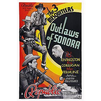ソノラの左上からの無法者最大 Terhune レイ ・ コリガン ボブ ・ リビングストン 1938 映画ポスター Masterprint