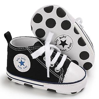 Baby Star Solid Sneaker Cotton Soft Anti-slip Sole Newborn First Walkers Casual