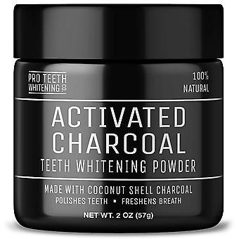 Aktivt kol tandblekning pulver med fläcken bort formel - 100% naturliga och vegan frien