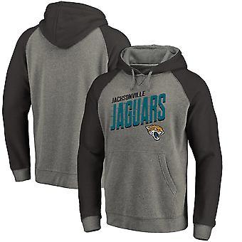 Jacksonville Jaguars Slant Strike Tri-Blend Raglan Pullover Hoodie Top WY062