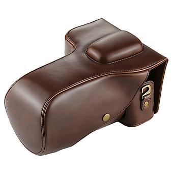 Full Body Camera PU Leather Case Bag voor Nikon D7200 / D7100 / D7000 (18-200 / 18-140mm Lens) (Koffie)