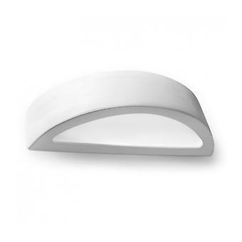 Atena keramik / hvidt glas væg lys 1 lys