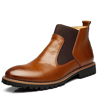 Genuine Leather Ankle Chelsea Boots, Winter Work Shoes