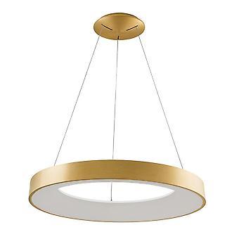Pendentif suspendu LED moderne Or brossé, Blanc chaud 3000K 4400lm