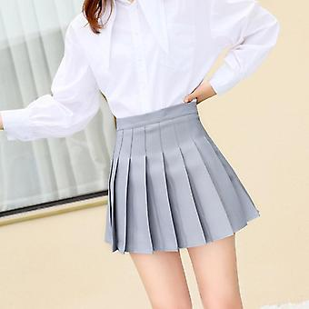 Summer Women Skirt Preppy Style Plaid Pleated For Cute Japanese School Ladies