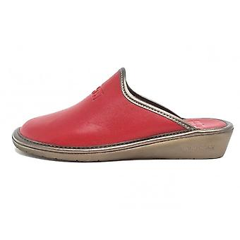 Nordikas 7399-o Milano Leather Mule Slippers In Red