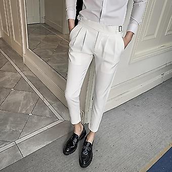Hääpuku / miehet Business Suit Pant, Rento Slim Fit Muodolliset Housut