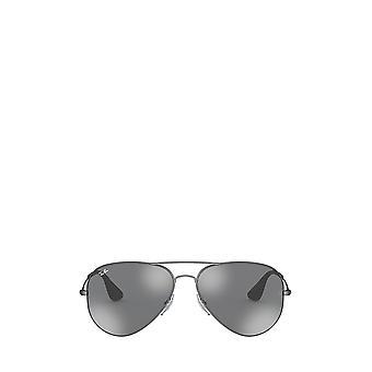 راي بان RB3558 غير لامع النظارات الشمسية العتيقة السوداء للجنسين