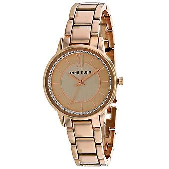 Anne Klein Women's Swarvoski Crystal Rose gold Dial Watch - AK-3520RGST