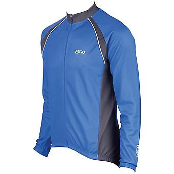Eigo Logic Mens Long Sleeve Cycling Jersey Blue / Black
