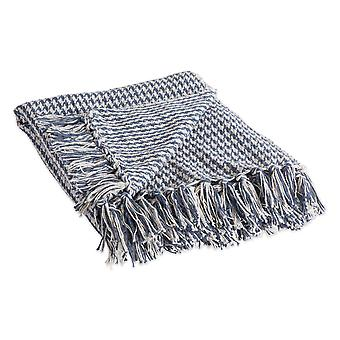 Dii French Blue Houndstooth Throw Blanket