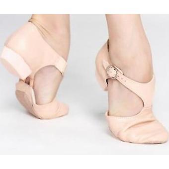 Kožené Stretch Jazz Dance Boty T Popruh Balet Lyrická Taneční Bota