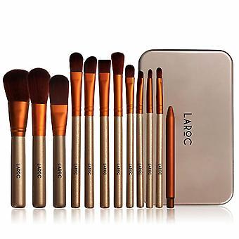 LaRoc 12pc Travel Makeup Brush Set