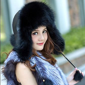 Frauen's Winter Waschbär Pelz Hüte