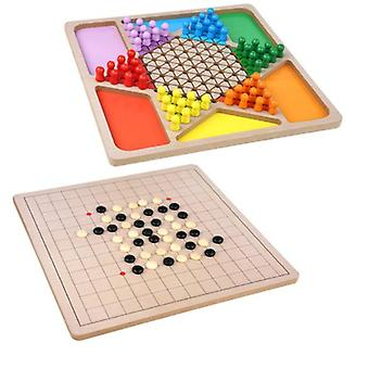 Gobang Checkers Two-in-one Puzzle Game Chess, Parent-child Interactive Party Desktop Toy