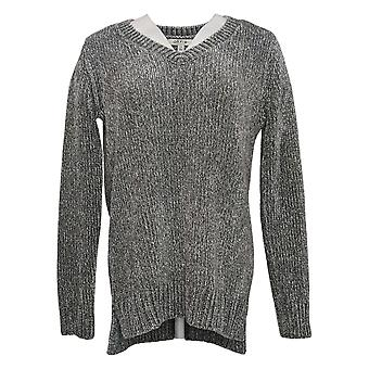Orvis Classic Collection Women's Sweater V-neckline Gray