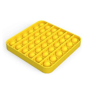 Yellow Square Push Pops Bubble Sensory Autism Squishy Stress Reliefr Toy Adult Child Funny Anti-stress Pops Fidget Kids