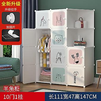 Louis Fashion's Wardrobes Simple Cloth Net Baby Rental Room Assembly