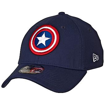 Captain America Shield Symbol Color Block New Era 39Thirty Chapeau ajusté