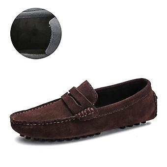 Men High Quality Spring Autumn Genuine Leather Shoes, Loafers, Soft Moccasins