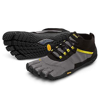 Vibram V-Trek Mens Mega Grip Five Fingers Walking Hiking Trek Trainers Shoes - Black/Grey