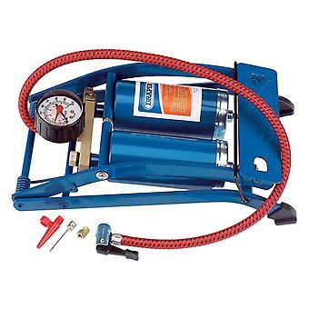 Draper Tools Double Cylinder Foot Pump Blue 25996