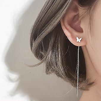 Fashion Elegant Crystal Butterfly Clip Earrings