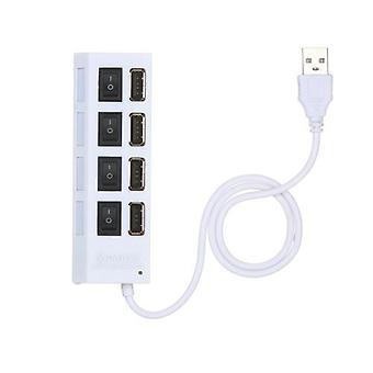 4-porte USB Hub 480Mbps højhastighedsdataoverførsel USB 2.0 Opladning Splitter