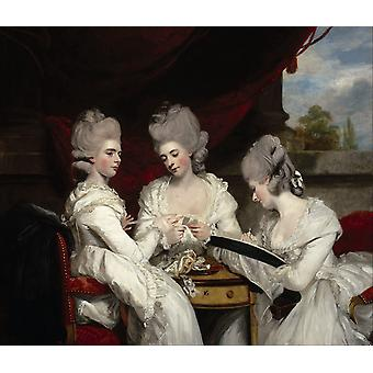 The Ladies Waldegrave, Joshua Reynolds Art Reproduction. Modern Hd Art Print Poster, Canvas Prints Wall Art For Office Home Decor Pictures