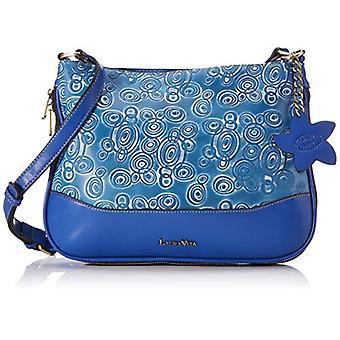 Laura Vita3408WomanBlu Crossbody Bag (Bleu)8x22x30 Centimeters (B x H x T)