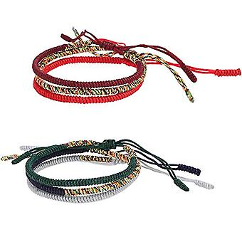 Set of 6 handmade Tibetan bracelets with Buddha knot, handmade, friendship bracelet or Lucky knot