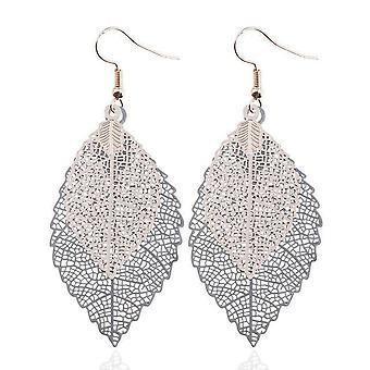 Vintage Leaves Drop Earrings Luxury Boho Bohemian Leaf Dangle Earrings Hollow Out