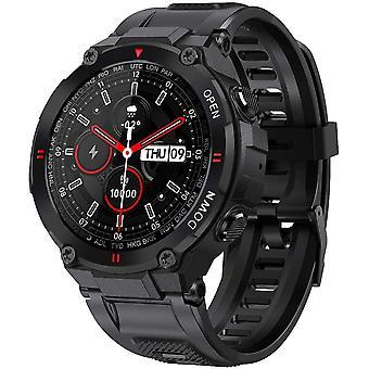 inteligentny zegarek Mężczyźni, inteligentny zegarek Wodoodporny IP68 Smart Watch Bluetooth Activity Trackers z gps krokomierzem tętno Monitor 400mAh Sleep Monitor (Czarny)