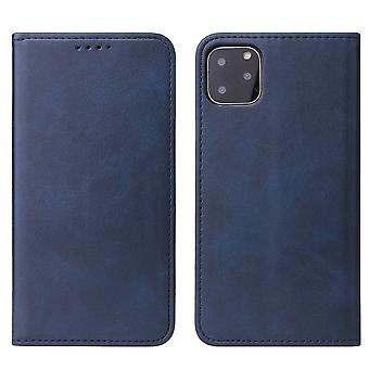 Flip folio leather case for iphone xs max blue pns-2014