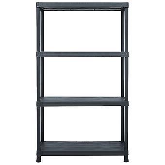 vidaXL opbergplank zwart 200 kg 80 x 40 x 138 cm kunststof
