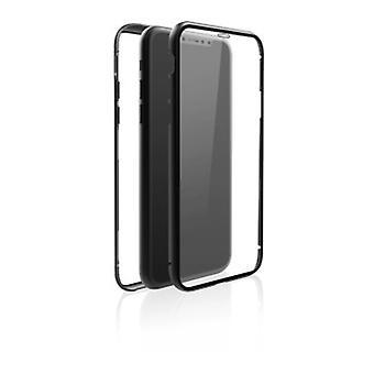 """Black Rock """"360° Glass"""" Skyddsfodral för Apple iPhone X / XS, Perfekt skydd, Smal design, Plast, 360 ° Lock, Svart"""