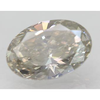 Cert 1.62 Carat Natural Fancy Yellowish Grey VS2 Oval Natural Loose Diamond For Ring 9.76x6.62mm