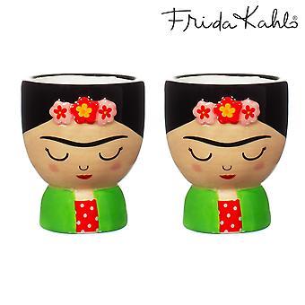 Sass &Belle Frida Huevo Tazas Conjunto de 2