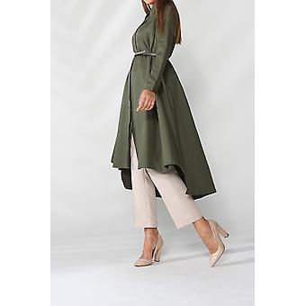 Belted Flared Shirt Tunic