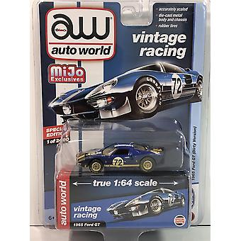 1965 Ford GT #72 Dirty Version Dark Blue 1:64 Scale Auto World CP7651