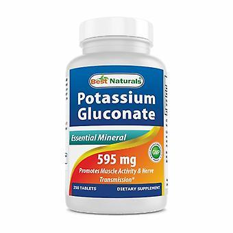 Paras Luonnollinen Kalium glukonaatti, 595 mg, 250 Tabs