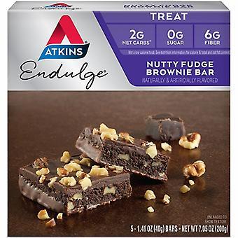 Atkins Endulge Bars Nutty Fudge Brownie, 5/7,1 oz
