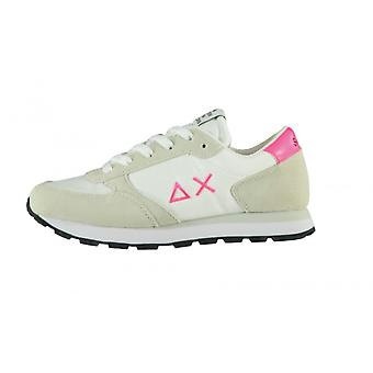 Shoes Baby Sun68 Sneaker Girl's Ally Nylon Solid Suede White Zs21su01 Z31401