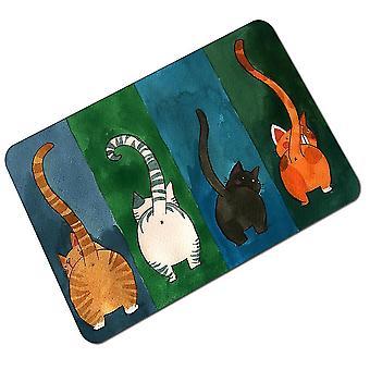 Multicolor 45*75cm animal kitten cute cartoon soft absorbent non-slip floor mat homi2834