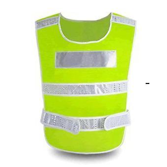 Reflekterende Vest Fremhæv trafiksikkerhed Byggeri Sikkerhedsbeklædning Sanitetsarbejdere Vest Night