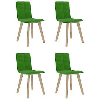 vidaXL chaises à manger 4 pcs. tissu vert