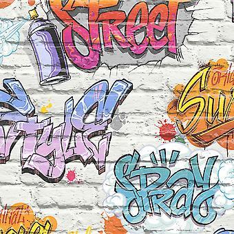Ugepa Street Style Multi Wallpaper L17905