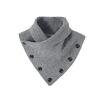 Wolle stricken abnehmbare Bluse hohe gefälschte Kragen Knöpfe falschen Kragen